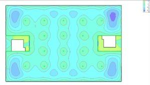 MicroFE Modell Industriehalle EG Verformungen