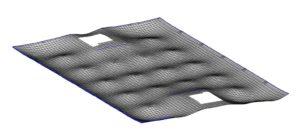 MicroFE Modell Industriehalle_EG_Verformungen 400-Fach Überhöht