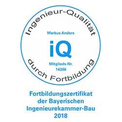 Bayerische Ingenieurekammer-Bau Fortbildungszertifikat