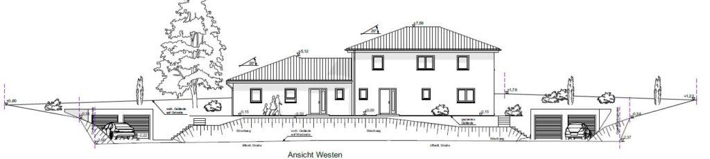 Baueingabe Einfamilienhaus
